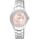 CITIZEN 星辰 綺麗世界光動能晶鑽腕錶 FE1140-51X  粉/30mm