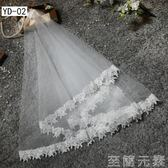 短款韓式旅拍簡約頭紗歐式新娘蓬蓬頭紗多層頭紗   至簡元素