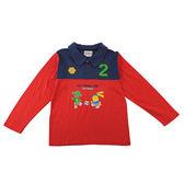 【愛的世界】純棉狗狗與小兔長袖POLO衫/3~4歲-台灣製-n3n4 ★秋冬上著