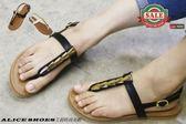 ALICE SHOES艾莉時尚美鞋 請把握!!搶鮮擁有流行夾腳水鑽平底涼鞋@582@MIT台灣製造