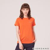 【GIORDANO】女裝G-MOTION反光LOGO運動T恤-38 錦鯉橙