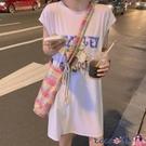 熱賣背心洋裝 連身裙女夏季韓版中長款背心裙寬鬆卡通減齡無袖T恤顯瘦外穿潮【618 狂歡】