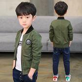 男童秋裝夾克外套中大童兒童春秋季拉鏈衫棒球服日韓潮衣 巴黎時尚
