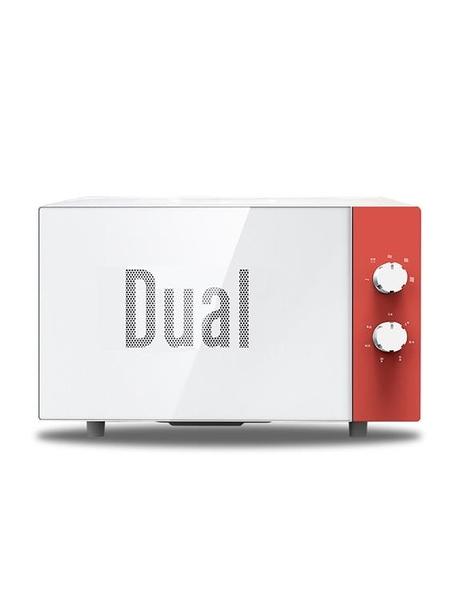 DUAL dik37德國帝而小清新微波爐家用轉盤機械式迷你小型20L MKS快速出貨