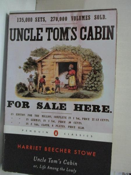 【書寶二手書T1/原文小說_BZ6】Uncle Tom's Cabin: Or, Life Among the Lowly