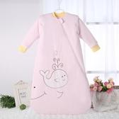 春秋夾棉兒童睡袋一體式純棉寶寶可拆袖嬰兒防踢被新生兒冬季加厚 【快速出貨】