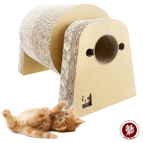 Box Meow 瓦楞貓抓板-喵來運轉 (CS029)