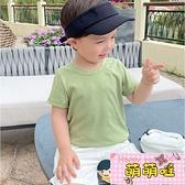 男童短袖T恤糖果色夏裝夏季嬰兒童裝寶寶半袖上衣【萌萌噠】