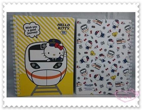 ♥小花花日本精品♥ Hello Kitty 新太魯閣號 筆記本 記事本 帳務本 32開 台灣製 62024006