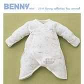 【愛吾兒】BENNY 木馬部屋 Q比紗布內著兔裝袖反摺