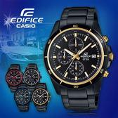 CASIO手錶專賣店 卡西歐  EDIFICE EFR-526BK-1A9 男錶 賽車錶  碼錶 三針三圈設計  防水100米 不鏽鋼錶帶
