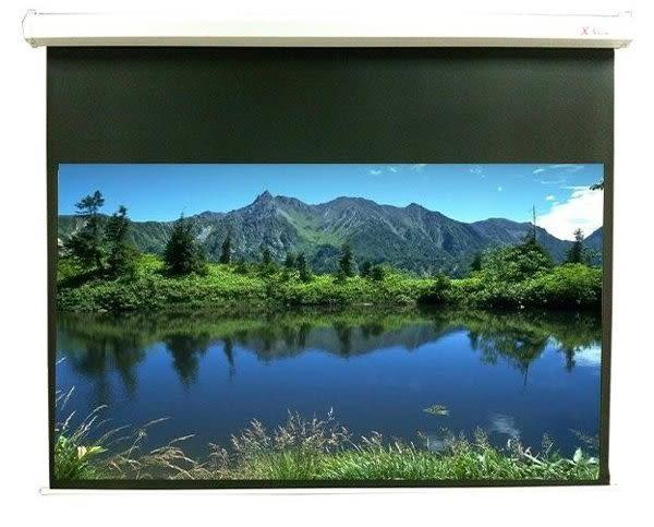 【名展音響】100吋16:9極致高速靜音電動布幕(上黑90cm,六角).另有億立PVMAX100UWH2-E30