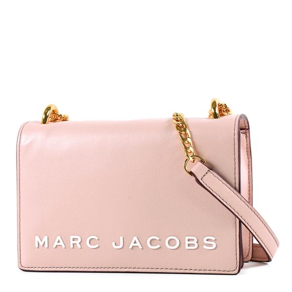 美國正品 MARC JACOBS 白色LOGO磁釦翻蓋鍊帶肩背/斜背二用包-粉色 【現貨】