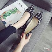 春夏季尖頭單鞋女2018新品大尺碼女鞋41-43平底瓢鞋小碼鞋31 32 33 聖誕交換禮物