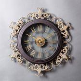 黑五好物節  歐式鐘表掛鐘客廳石英鐘創意個性復古大氣時鐘家用藝術大掛表豪華【居享優品】