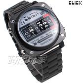 Click 電度錶 創意 造型 腕錶 創新風格 趣味 不銹鋼 IP黑電鍍 男錶 CL-713A-BKBK-M