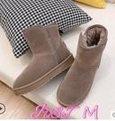 雪地靴東北雪地靴女秋冬季加絨加厚2021年新款洋氣皮毛一體防滑保暖棉鞋 JUST M