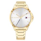 【台南 時代鐘錶 Tommy Hilfiger】1782086 運動時尚SPORT 鋼錶帶女錶 38mm 金