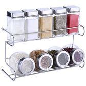 廚房玻璃調料盒套裝家用油鹽罐商用組合裝調味罐燒烤小調料瓶套裝