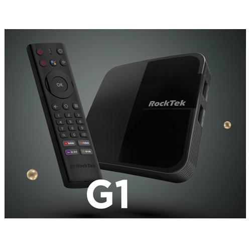 RockTek G1 4K HDR Google認證 Android TV 語音智慧電視盒(三個月套餐版)