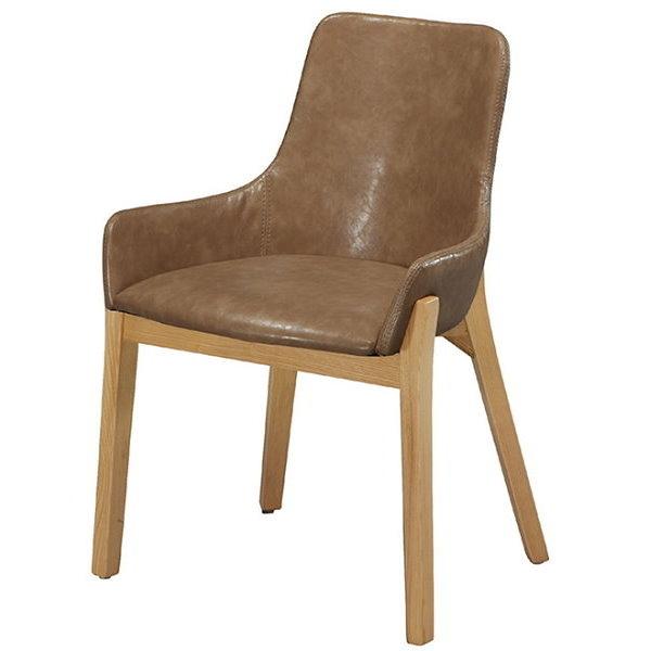 餐椅 CV-761-8 YS-16咖啡皮原木腳餐椅【大眾家居舘】