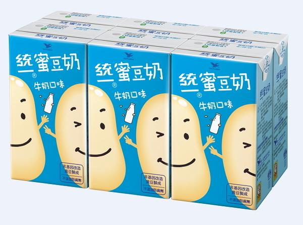 統一蜜豆奶-牛奶250ml(6瓶/組)【合迷雅好物超級商城】
