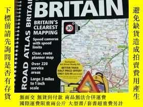 二手書博民逛書店Road罕見Atlas Britain 2014 (Intern