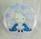 【震撼精品百貨】Hello Kitty 凱蒂貓~雪精靈圓型鐵盒『藍』