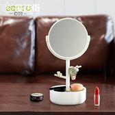 化妝鏡小鏡子臺式梳妝隨身公主鏡桌面宿舍書桌便攜學生雙面鏡 魔法街