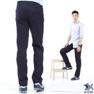 【NST Jeans】Navy海軍藍 麂皮拼接 滑爽微彈休閒長褲(中腰) 390(5526)