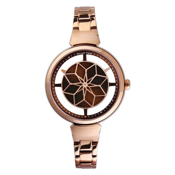 Relax Time 年度部落客推薦錶款 簡約 鏤空 玫瑰金/RT-63-5 女錶 咖啡面/玫瑰金/36mm