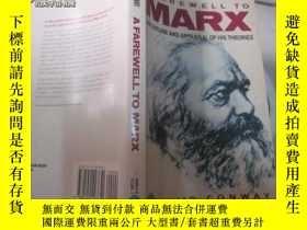 二手書博民逛書店A罕見FAREWELL TO MARX11966