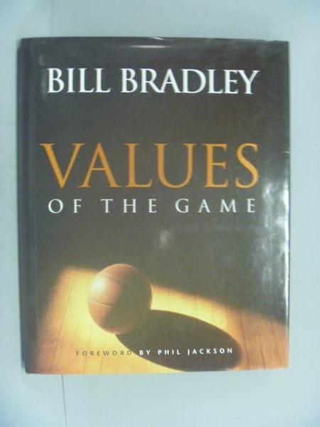 【書寶二手書T7/體育_YEY】Values of the Game_Bradley, Bill