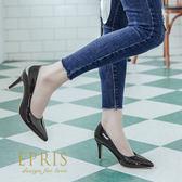 現貨 MIT小尺碼女鞋推薦 糖果公主 亮皮高跟鞋 經典素面尖頭跟鞋 21-25.5 EPRIS艾佩絲-沈著灰