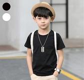 【男人幫】SL100*圓領領子加厚小朋友兒童專用純棉素面T恤