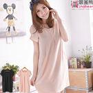 洋裝--優雅氛圍素面壓折造型紗質洋裝(黑...