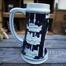 【比利時-著名建築】德國啤酒杯家居飾品陶瓷擺件