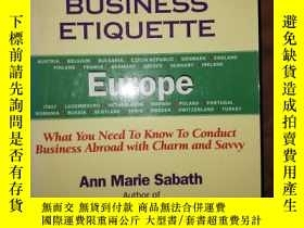二手書博民逛書店Business罕見Etiquette: Europe: Wha