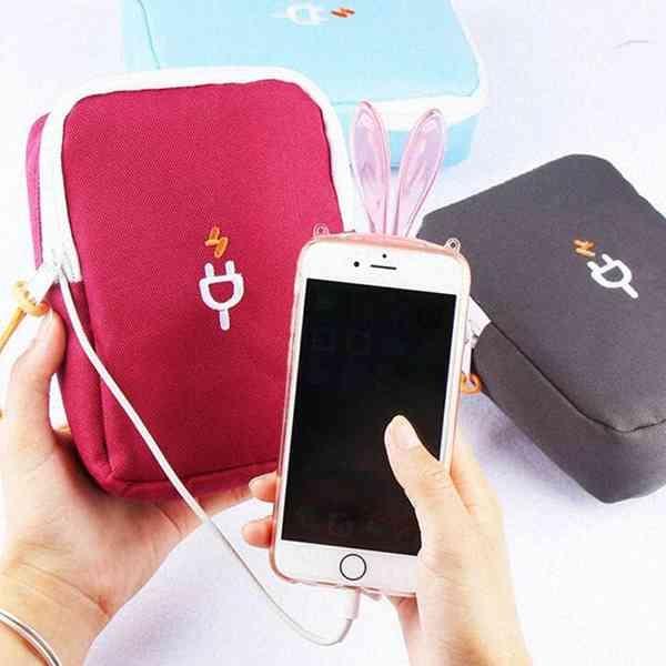 充電標誌 3C 產品 收納包 行動電源 手機 耳機線 收納 多功能 雜物 整理包 旅行 出國 『無名』 N07108