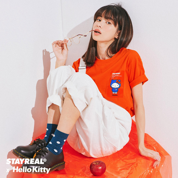 STAYREAL x HELLO KITTY 潮流凱蒂定番T