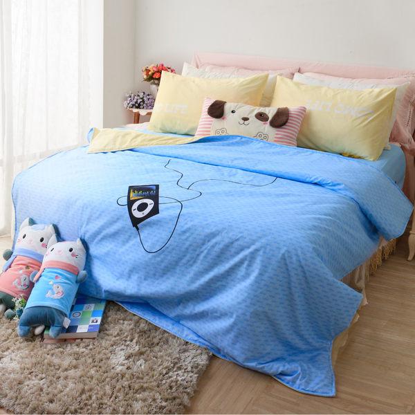R.Q.POLO【胖卡系列 音浪時代】加厚版新絲柔/雙人標準床包兩用被四件組(5X6.2尺)
