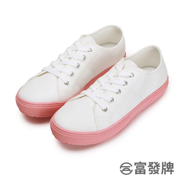 【富發牌】草莓果醬粉底休閒鞋-白粉  8022H