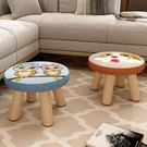 小凳子家用實木矮凳時尚圓凳可愛兒童沙發凳椅子 卡通創意小板凳