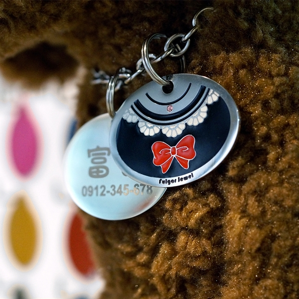 【Fulgor Jewel】寵物吊牌 名牌 客製狗牌 免費刻字 Lady 派對款
