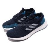 adidas 慢跑鞋 PureBOOST GO 藍 白 編織鞋面 街頭路跑 男鞋 運動鞋【PUMP306】 EE4675