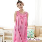 PinkLady浪漫絲縷珍珠絲 連身無袖睡裙23(粉 枚紅 藍)