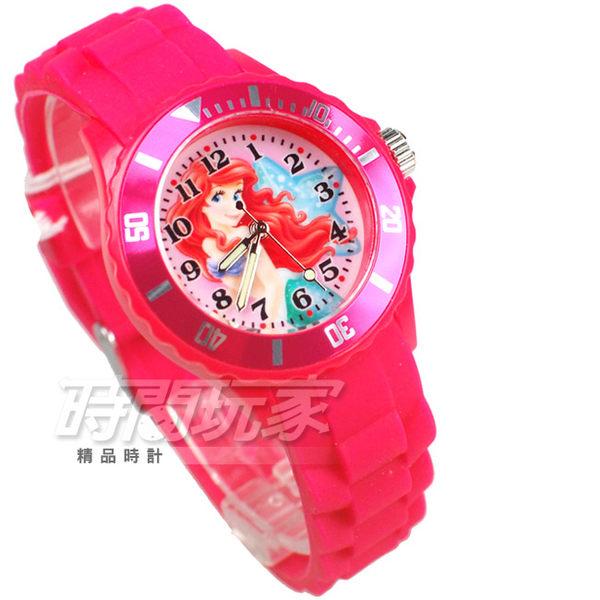 Disney 迪士尼 小美人魚 公主 卡通手錶 兒童手錶 桃紅 C35-0617桃