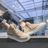 韓版ulzzang高筒鞋港風潮流靴子嘻哈男鞋學生原宿板鞋街拍帆布鞋 居享優品