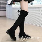 2018秋冬季女式長筒靴子歐美英倫時尚騎士靴圓頭中跟方跟防滑女靴