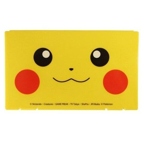 小禮堂 神奇寶貝 日製 攜帶型塑膠口罩盒 隨身口罩盒 口罩夾 口罩套 (黃 大臉) 4544815-05170